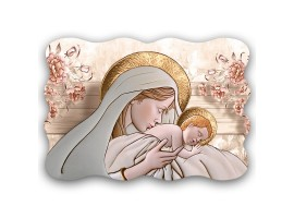 quadro sacro Maternity Ceramic Flower Brown