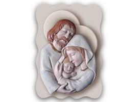 Quadro Sacro - Sacred Family Naif Brown