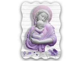 Quadro sacro Maternità Viola