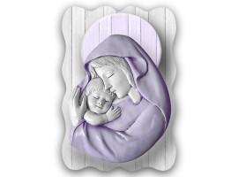 Quadro sacro Maternity Naif Violet