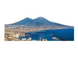 Quadro silhouette Napoli di Giorno