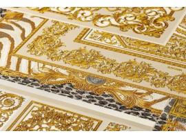 Carta da parati Versace patchwork oro bianco