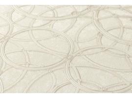Carta da parati Versace cerchi crema bianco
