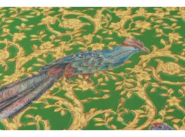 Carta da parati Versace uccelli verde oro