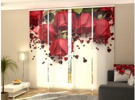 Tenda a 4 pannelli Rose Rosse