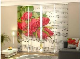 Tenda a pannello scorrevole Rose e Musica