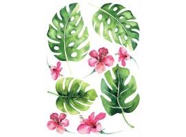 Adesivo murale Foglie Tropicali