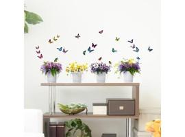 Adesivo murale fiori colorati