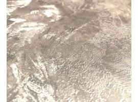 Carta da parati spatolato argento