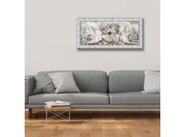 Quadro in tela con glitter cornice Angioletti Argento