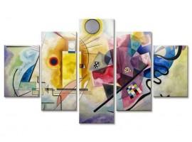 Quadro cinque pannelli Giallo Rosso Blu di Kandinsky