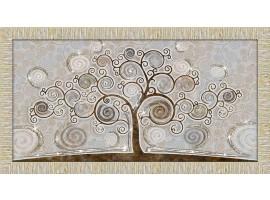 Quadro in legno con glitter Albero della Vita oro