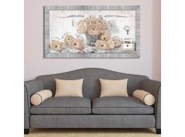 Quadro in legno con glitter Rose Shabby