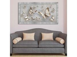 Quadro in legno con glitter Farfalle Shabby