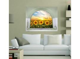 Ambientazione Trompe l'Oeil | Arco su Campo di Girasoli