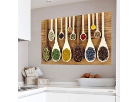 Adesivo per cucina ambientazione | Cucchiai con spezie