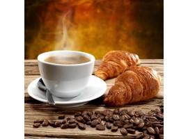 Adesivo per cucina | Caffè e croissant
