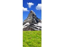adesivo per porta vetta di montagna