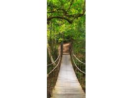 adesivo per porta ponte nel bosco