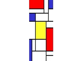 adesivo per porta geometric mondrian