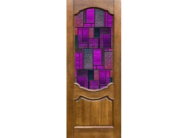 adesivo per porta glass purple