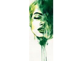 adesivo per porta woman green
