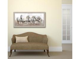 Quadro in legno con cornice Cavalli Selvaggi