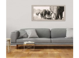 Quadro in legno con cornice Elefanti