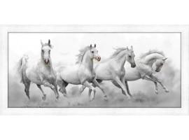 Quadro in legno con cornica Cavalli Selvaggi