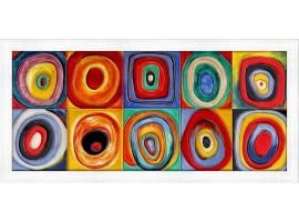 Quadro in legno con cornica Farbstudie Quadrate Kandinsky