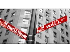 Broadway rosso | Quadro America su tela