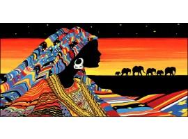Quadro su tela Donna Masai