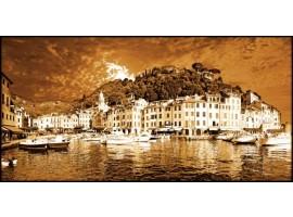 Genova Portofino Seppia | Quadro su tela