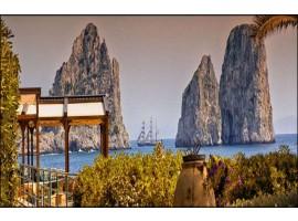 Terrazza su Faraglioni di Capri | Quadro su tela