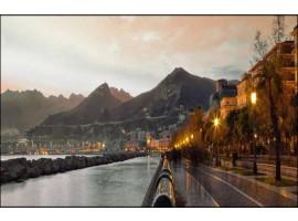 Salerno di sera | Quadro su tela