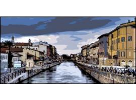 Milano Navigli pop | Quadro su tela