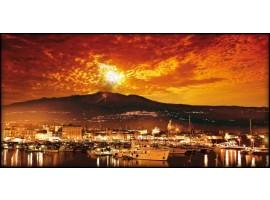 Catania di sera | Quadro su tela