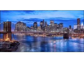 Ponte di Brooklyn Blue | Quadro America su tela