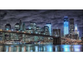 New York Blue | Quadro America su tela