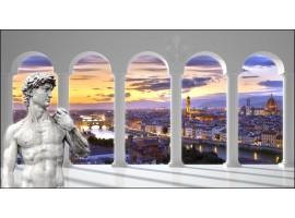 Firenze con David | Quadro Trompe l'Oeil