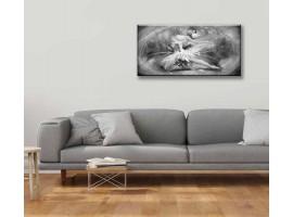 quadro glitter Ballerina bianco e nero