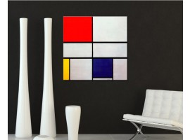 Composition with red - Mondrian ambientazione