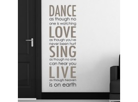 Frase adesiva stickers Dance Love Sing Live
