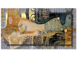 Quadro in tela con cornice Serpenti d'Acqua Argento