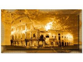 Quadro in tela con cornice Colosseo Oro
