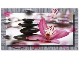 Quadro in tela con cornice Orchidea Violet
