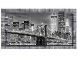 Quadro in tela con cornice New York Black