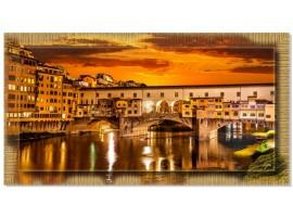 Quadro in tela con cornice Firenze Ponte Vecchio