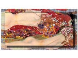 Quadro in tela con cornice Bisce d'Acqua Argento