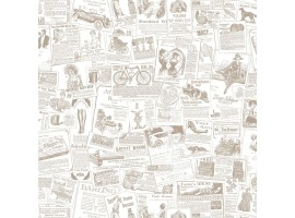 Giornali Antichi beige - Carta da parati